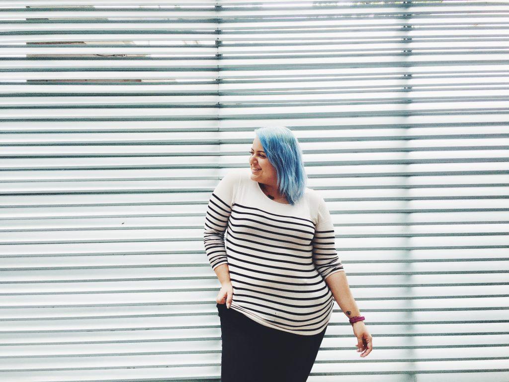 gabilu-mireles-fat-gab-curvy-blogger-mexicana-moda-tallas-extra-grandes-mujer-ropa-gorda-rayas-horizontales-regla-tips-consejos